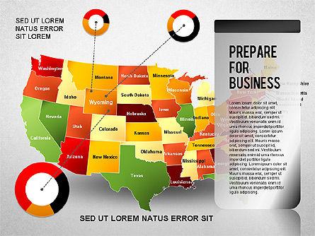 USA Presentation Diagram, Slide 5, 01921, Business Models — PoweredTemplate.com