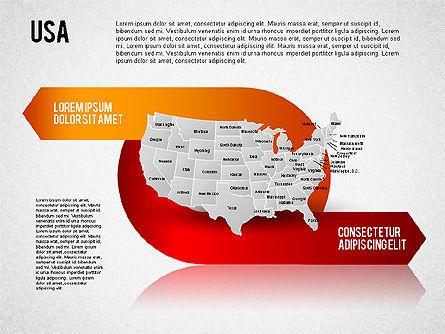 USA Presentation Diagram, Slide 6, 01921, Business Models — PoweredTemplate.com