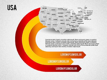USA Presentation Diagram, Slide 8, 01921, Business Models — PoweredTemplate.com