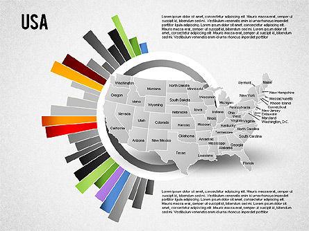 USA Presentation Diagram, Slide 9, 01921, Business Models — PoweredTemplate.com