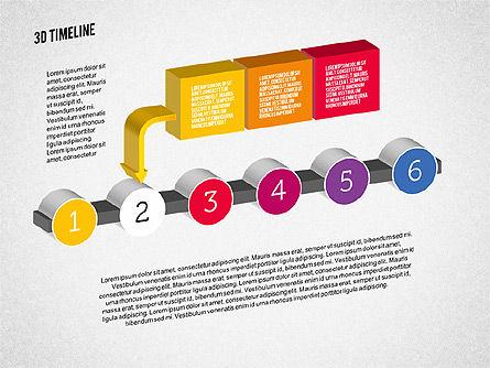 3D Process Timeline, Slide 2, 01922, Timelines & Calendars — PoweredTemplate.com