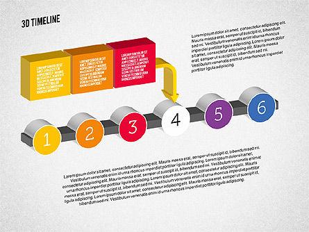 3D Process Timeline, Slide 4, 01922, Timelines & Calendars — PoweredTemplate.com