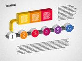 Timelines & Calendars: 3D Process Timeline #01922