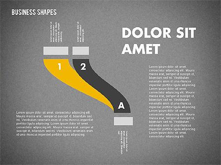 Spaghetti Chart in Flat Design, Slide 10, 01924, Process Diagrams — PoweredTemplate.com