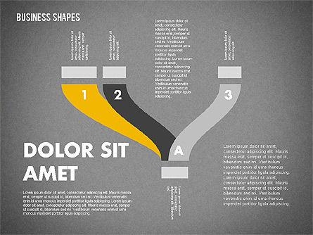 Spaghetti Chart in Flat Design, Slide 11, 01924, Process Diagrams — PoweredTemplate.com