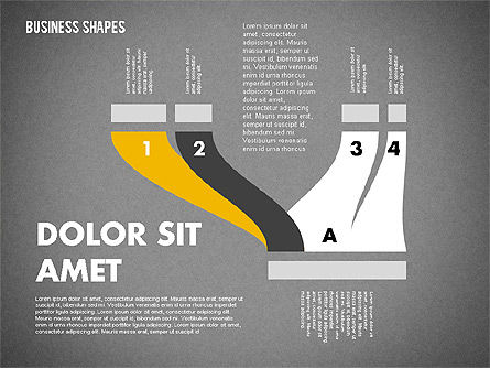 Spaghetti Chart in Flat Design, Slide 12, 01924, Process Diagrams — PoweredTemplate.com