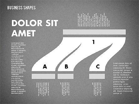 Spaghetti Chart in Flat Design, Slide 14, 01924, Process Diagrams — PoweredTemplate.com