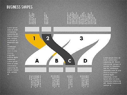 Spaghetti Chart in Flat Design, Slide 15, 01924, Process Diagrams — PoweredTemplate.com