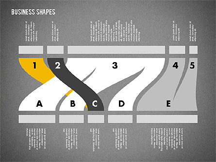 Spaghetti Chart in Flat Design, Slide 16, 01924, Process Diagrams — PoweredTemplate.com