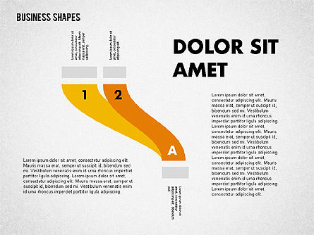 Spaghetti Chart in Flat Design, Slide 2, 01924, Process Diagrams — PoweredTemplate.com