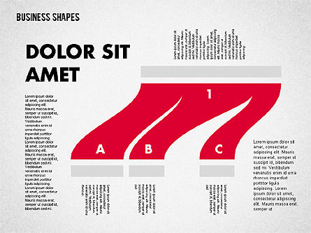 Spaghetti Chart in Flat Design, Slide 6, 01924, Process Diagrams — PoweredTemplate.com