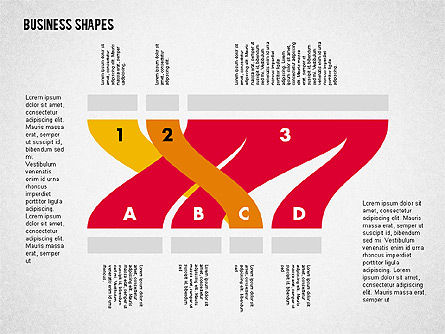 Spaghetti Chart in Flat Design, Slide 7, 01924, Process Diagrams — PoweredTemplate.com