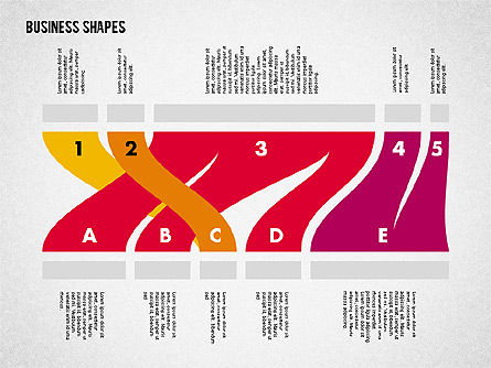 Spaghetti Chart in Flat Design, Slide 8, 01924, Process Diagrams — PoweredTemplate.com