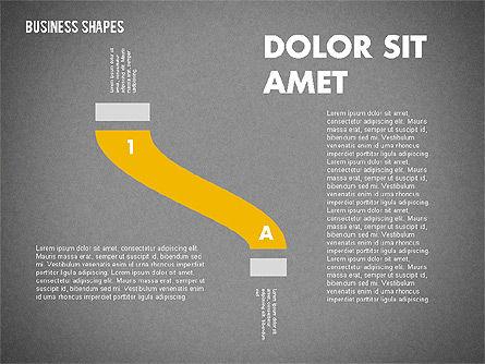 Spaghetti Chart in Flat Design, Slide 9, 01924, Process Diagrams — PoweredTemplate.com