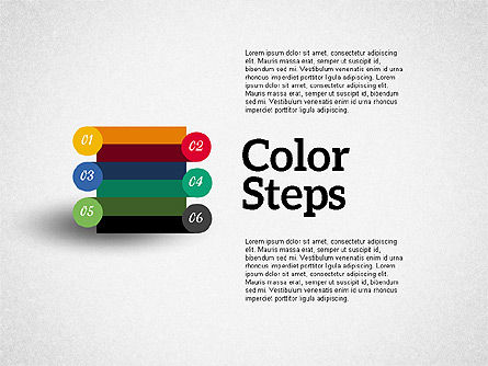Colored Steps, 01927, Stage Diagrams — PoweredTemplate.com