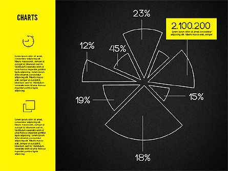 Round Charts Kit, Slide 4, 01928, Pie Charts — PoweredTemplate.com