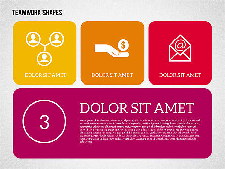 Teamwork Presentation in Flat Design, Slide 3, 01936, Presentation Templates — PoweredTemplate.com