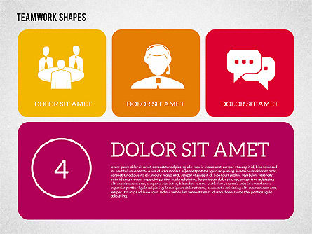 Teamwork Presentation in Flat Design, Slide 4, 01936, Presentation Templates — PoweredTemplate.com