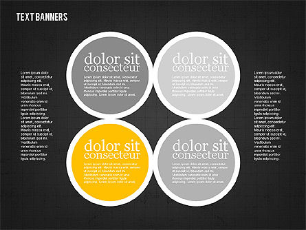 Colorful Text Banners, Slide 11, 01938, Text Boxes — PoweredTemplate.com