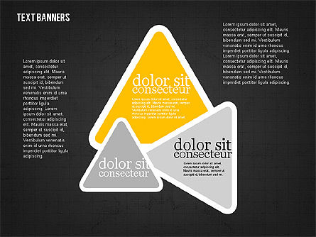 Colorful Text Banners, Slide 12, 01938, Text Boxes — PoweredTemplate.com