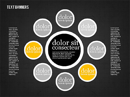 Colorful Text Banners, Slide 13, 01938, Text Boxes — PoweredTemplate.com