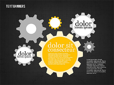 Colorful Text Banners, Slide 15, 01938, Text Boxes — PoweredTemplate.com