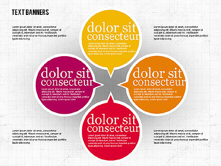 Colorful Text Banners, Slide 6, 01938, Text Boxes — PoweredTemplate.com