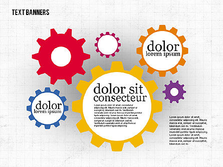 Colorful Text Banners, Slide 7, 01938, Text Boxes — PoweredTemplate.com