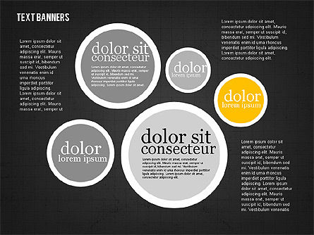 Colorful Text Banners, Slide 9, 01938, Text Boxes — PoweredTemplate.com