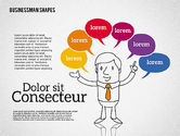 Shapes: Shapes and Businessman Character #01940