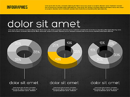 Presentation with Pie Charts, Slide 10, 01942, Pie Charts — PoweredTemplate.com