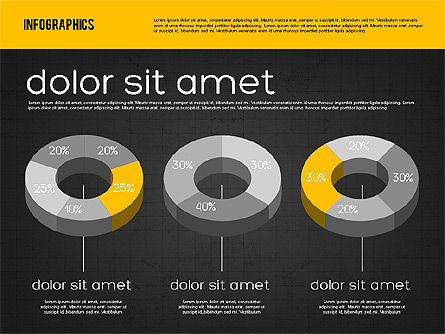 Presentation with Pie Charts, Slide 11, 01942, Pie Charts — PoweredTemplate.com