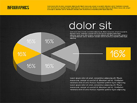 Presentation with Pie Charts, Slide 12, 01942, Pie Charts — PoweredTemplate.com