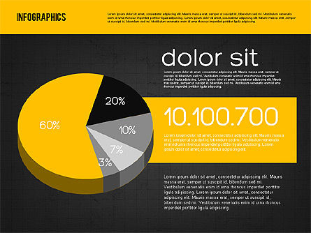 Presentation with Pie Charts, Slide 9, 01942, Pie Charts — PoweredTemplate.com