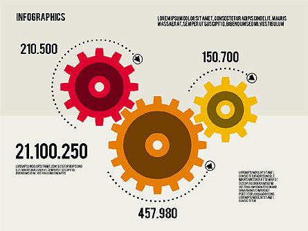 Infographics Toolbox in Flat Design, Slide 3, 01945, Presentation Templates — PoweredTemplate.com