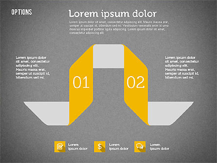 Origami Style Options, Slide 12, 01946, Stage Diagrams — PoweredTemplate.com