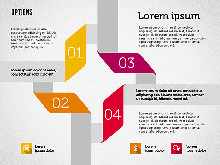 Origami Style Options, Slide 7, 01946, Stage Diagrams — PoweredTemplate.com