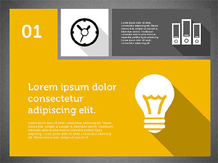 Technology Presentation in Flat Design, Slide 10, 01947, Presentation Templates — PoweredTemplate.com