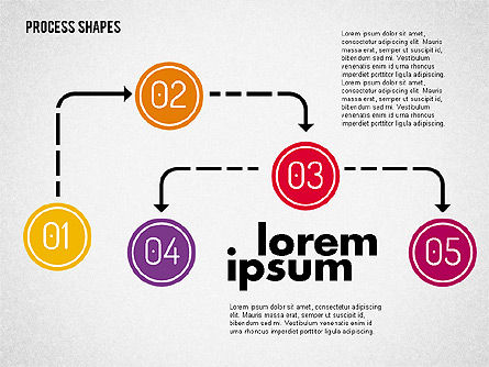 Process Shapes Kit, 01948, Process Diagrams — PoweredTemplate.com