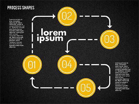Process Shapes Kit, Slide 10, 01948, Process Diagrams — PoweredTemplate.com