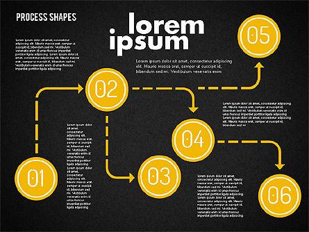 Process Shapes Kit, Slide 11, 01948, Process Diagrams — PoweredTemplate.com