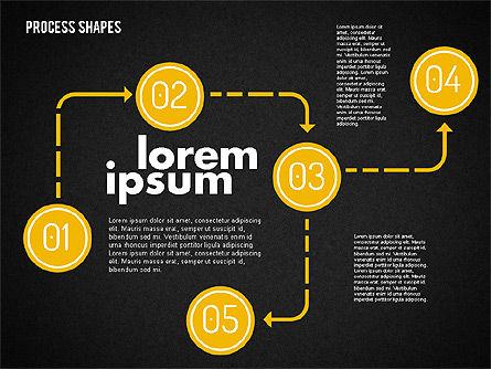 Process Shapes Kit, Slide 12, 01948, Process Diagrams — PoweredTemplate.com
