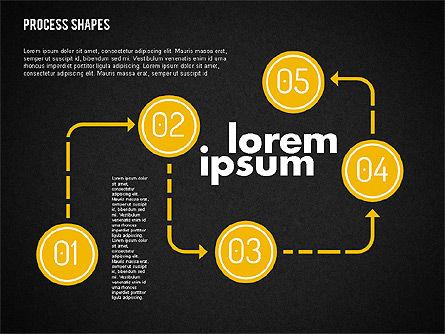 Process Shapes Kit, Slide 15, 01948, Process Diagrams — PoweredTemplate.com