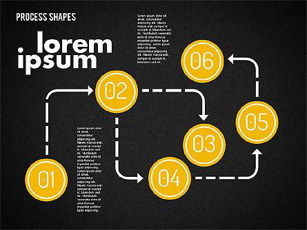 Process Shapes Kit, Slide 16, 01948, Process Diagrams — PoweredTemplate.com