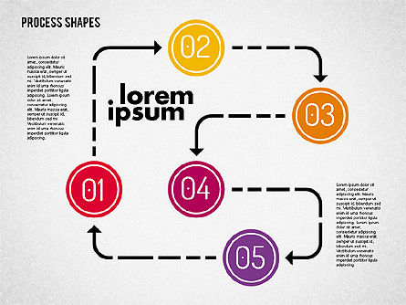 Process Shapes Kit, Slide 2, 01948, Process Diagrams — PoweredTemplate.com