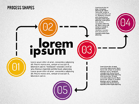 Process Shapes Kit, Slide 4, 01948, Process Diagrams — PoweredTemplate.com