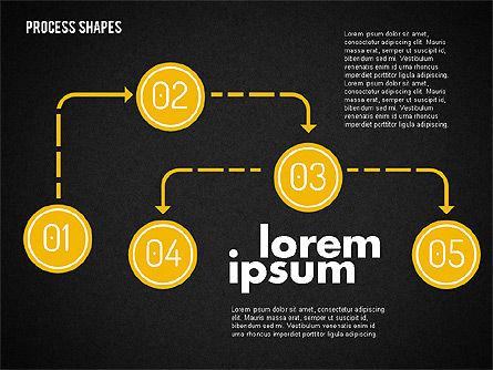 Process Shapes Kit, Slide 9, 01948, Process Diagrams — PoweredTemplate.com