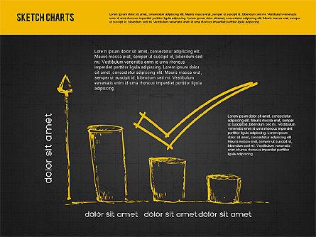 Sketch Style Charts, Slide 11, 01953, Business Models — PoweredTemplate.com