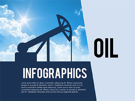 Mining and Oil Production Infographics, 01954, Presentation Templates — PoweredTemplate.com