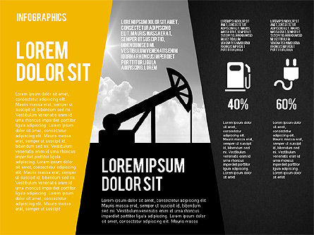 Mining and Oil Production Infographics, Slide 12, 01954, Presentation Templates — PoweredTemplate.com